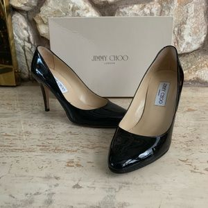 Jimmy Choo 247 victory patent leather heel